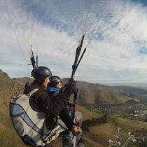 Lot Paralotnią nad Górami Świętokrzyskimi