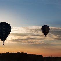 Nocny lot balonem