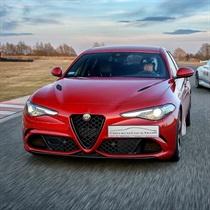 Jazda Alfa Romeo Giulia ulicami Poznania