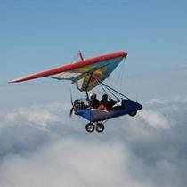 Lot Motolotnią nad Górami Świętokrzyskimi